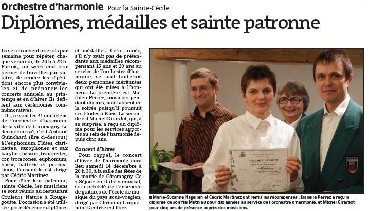 Remise diplôme saint Cécile 2013